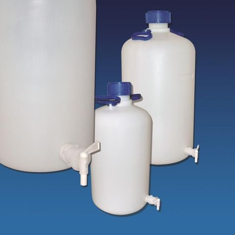 Bottle aspirator HDPE 5lt c/w cap & tap
