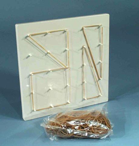 Geoboard student plastic c/w rubber band