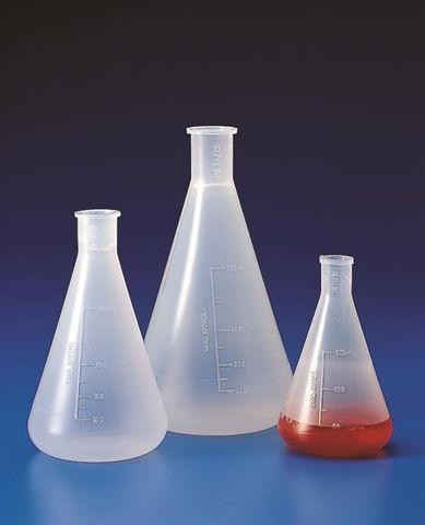 Flask Erlenmeyer (conical) PP 125ml