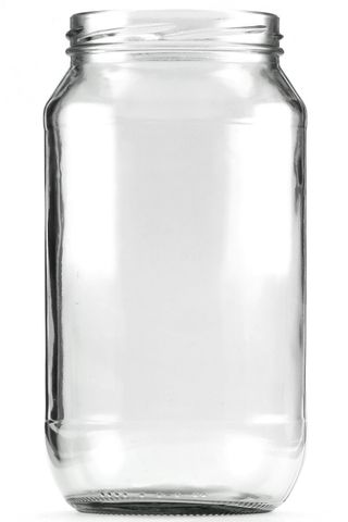 Jar glass twist finish 1000ml w/o lid