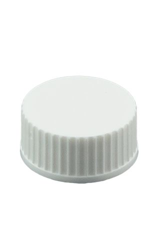 Cap white 20mm plain