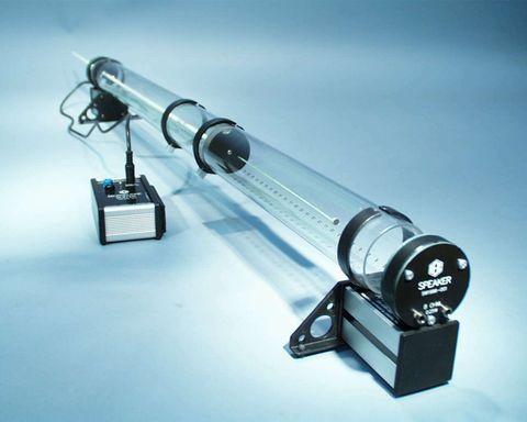 Kundt's apparatus w/microphone & speaker