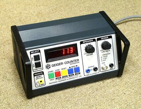 Geiger counter bench model w/o GM tube