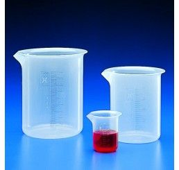 Beaker squat PP 1000ml moulded grad