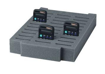 Foam insert holds 30 calculators