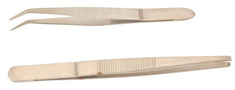 Forceps curved 110mm