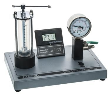 Boyles Law apparatus on metal stand