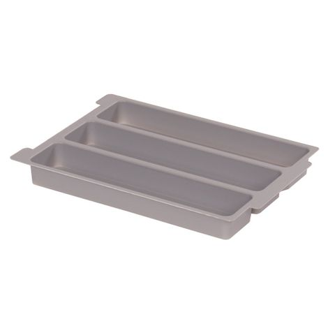 Gratnells plastic tray insert 3 section