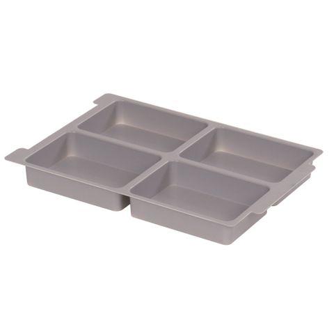 Gratnells plastic tray insert 4 section