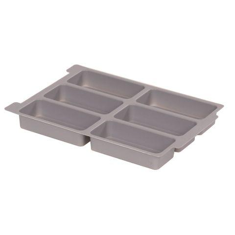 Gratnells plastic tray insert 6 section