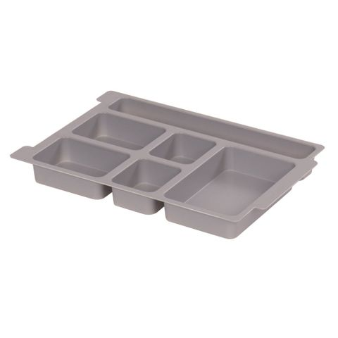 Gratnells plastic tray multi 6 section