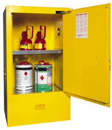 """Cabinet """"FLAMMABLE"""" 60L 1 door 2 shelves"""