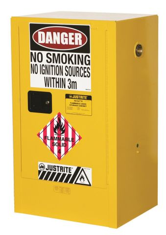 "Cabinet ""FLAMMABLE SOLIDS"" 60L 1 door"