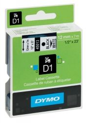 Label Dymo D1 blue on white 12mm wide