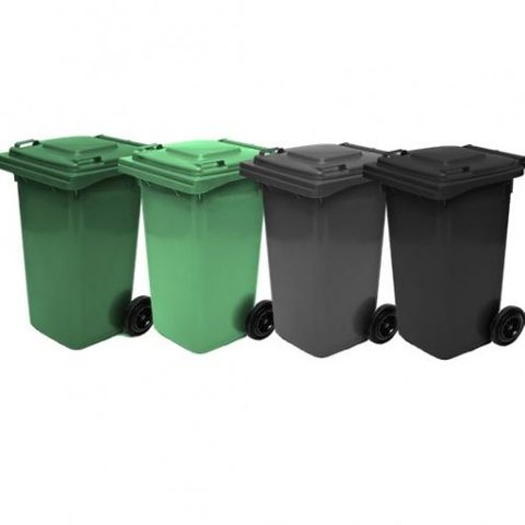 Wheelie Bin 120 Litre w/lid nature green