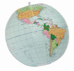 """Globe, Inflatable 24"""" Geopolitical"""