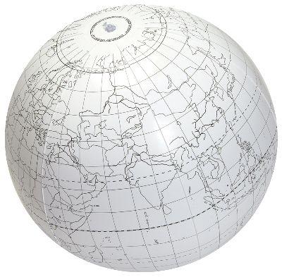 "Globe, Inflatable 24"" writable"