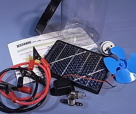Solar energy kit in jar