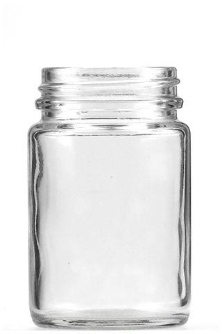 Jar pomade clear glass 125ml w/o lid