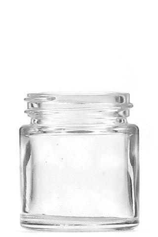 Jar pomade clear glass 30ml w/o  lid
