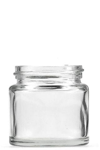 Jar pomade clear glass 65ml w/o  lid