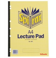 Lecture notebook A4 140 pages Spirax 907