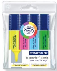 Highlighter Staedtler text s/gel 4 ass.