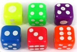 Flashing 4cm dice