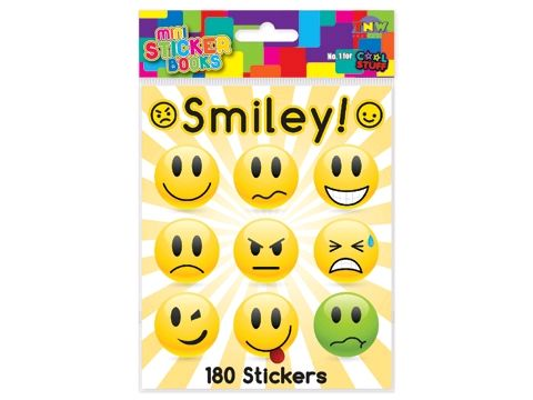 Mini sticker book - smiley