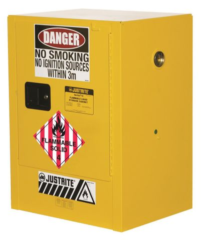 "Cabinet ""FLAMMABLE SOLIDS"" 30L 1 door"