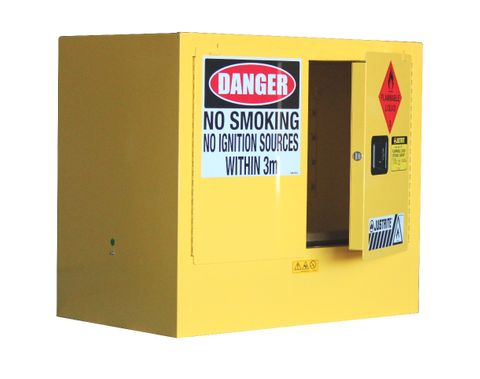 """Cabinet """"FLAMMABLE"""" 100L under bench"""