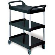 Trolley 'Rubbermaid' 3 shelf 85x47x96cm