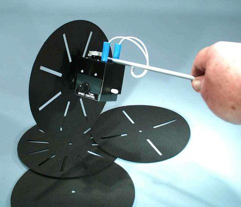 Stroboscope motorised adj speed 4 slt