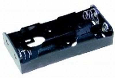 Battery holder flat with leads 4xC