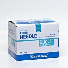 Needle hypo 23G x 25mm Light blue hub