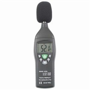 Sound level meter dual range digital