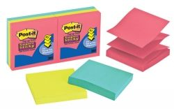 Post it notes s/sticky p/pup refill pk/6