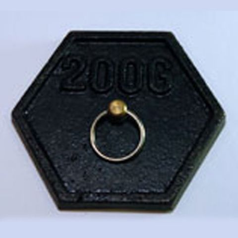 Weight hexagonal iron 200g lifting ring