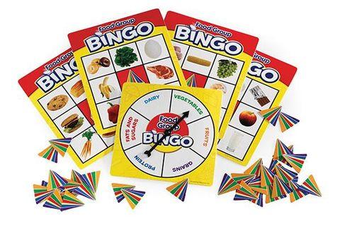 Food bingo group game