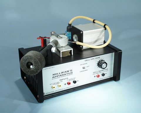 Millikans apparatus w/o power supply