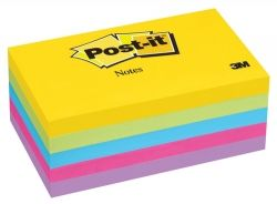 Post it notes assorted ultra 76x127mm