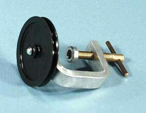 Pulley nylon with clamp aluminium frame