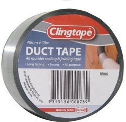 Tape Clingtape duct silver 48mm x 30m