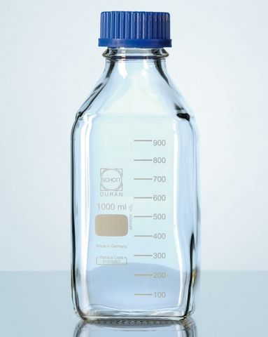 Bottle laboratory square 500ml GL45