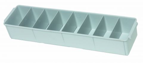 Storage tray PP medium 60x15x10cm Grey