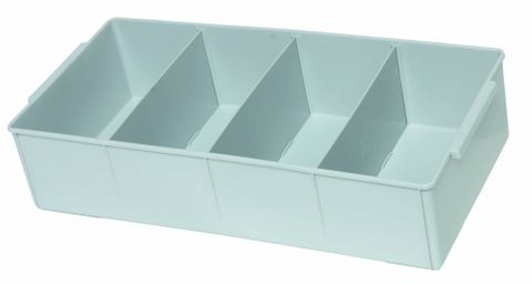 Storage tray PP large 60x30x14cm Grey
