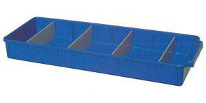 Storage tray PP small 40x15x5cm Blue