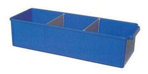 Storage tray PP medium 40x15x10cm Blue