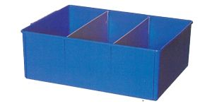 Storage tray PP large 40x30x14cm Blue