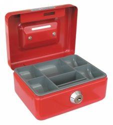 Cash box 125x94x60mm red